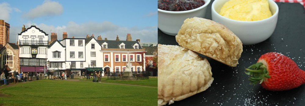 Enjoy the wide variety of shops in Exeter or sit back and eat a delicious cream tea.