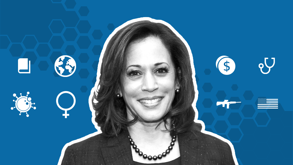 Promo image showing Kamala Harris
