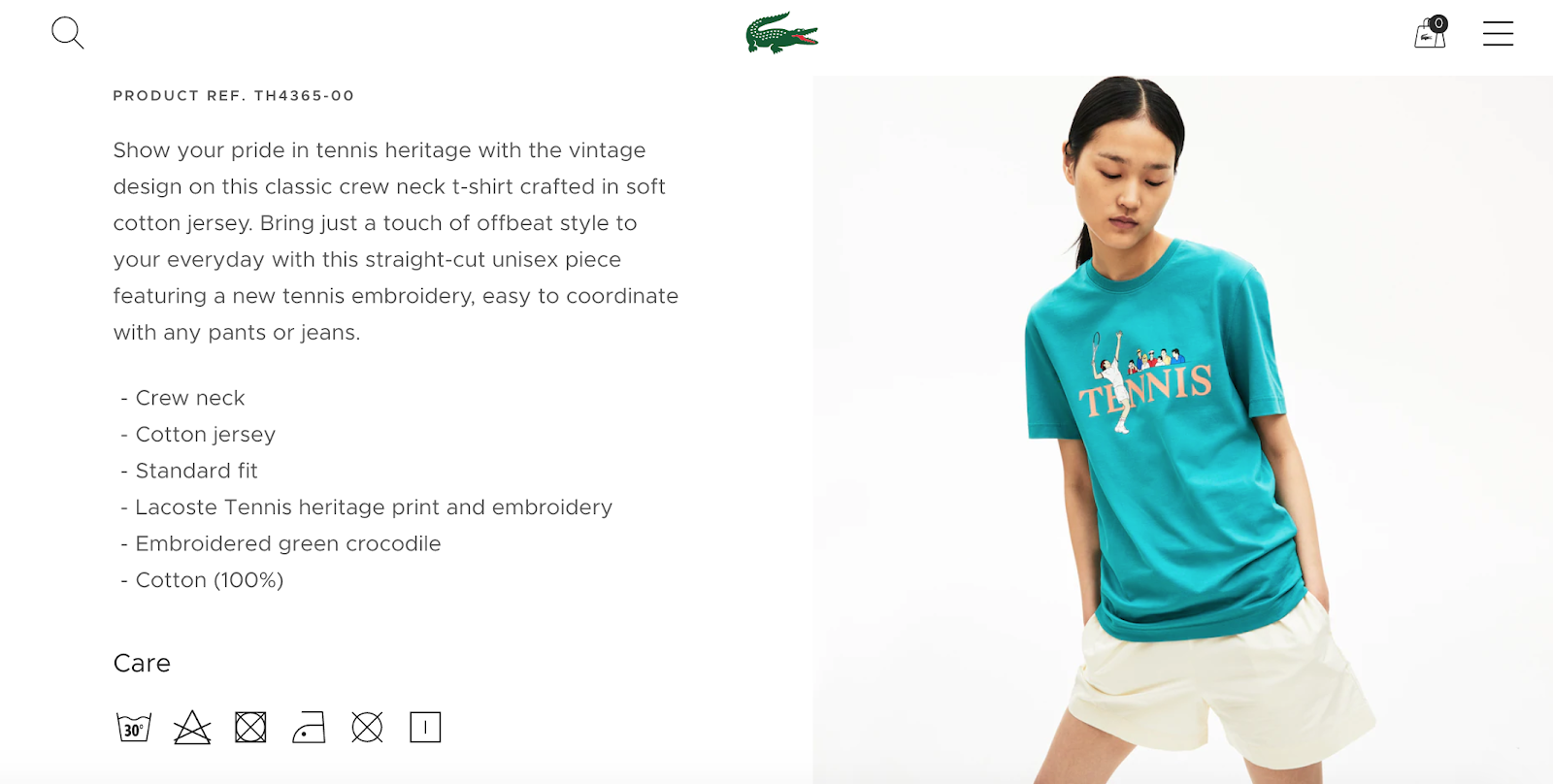 product detail page design best practices lacoste