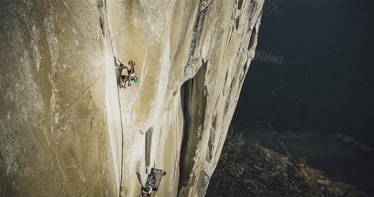 Emily Harrington free climbs El Capitan in Yosemite National Park.