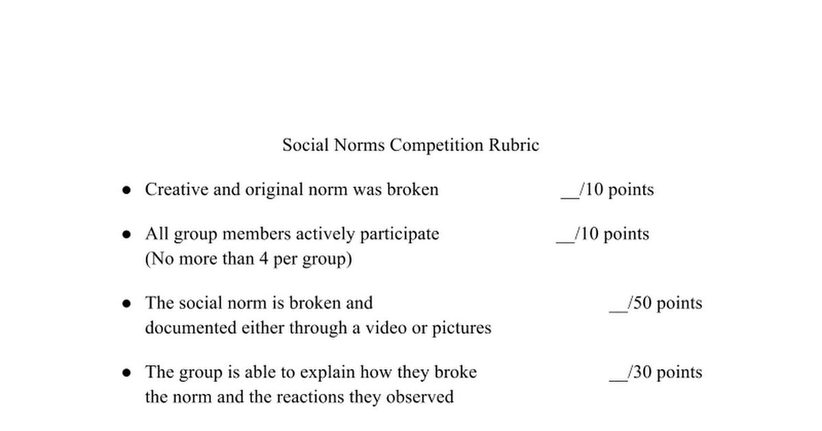 observing social norms