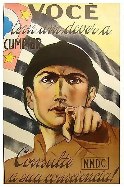 Cartaz de convocação de voluntários. (Fonte: Wikimedia Commons)