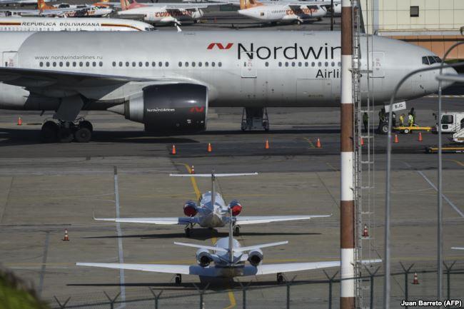 """""""Боинг"""" российской авиакомпании Nordwind, прилетевший в Венесуэлу с таинственной миссией 28 января 2019 года"""