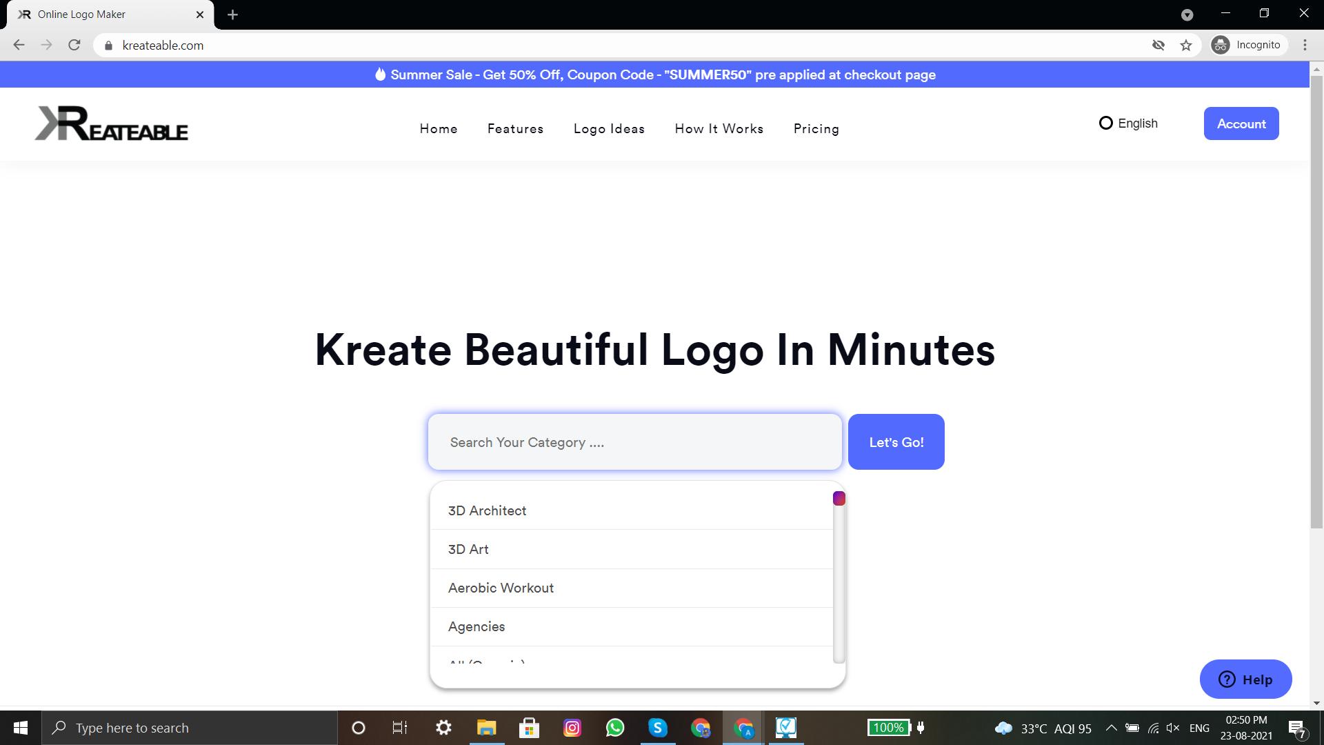 how to create a beautiful logo using kreateable