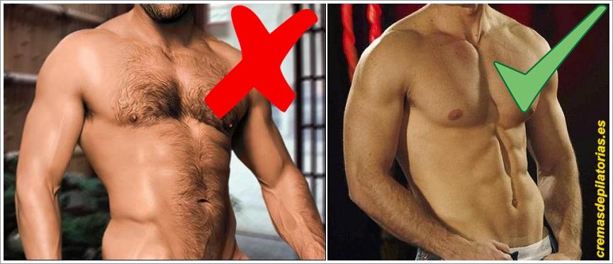 Resultado de imagen de hombre depilado y no depilado