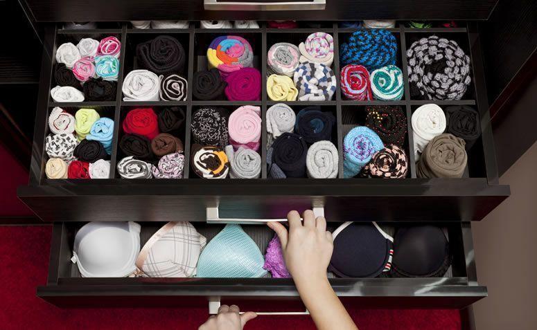 7 ideias práticas e criativas para organizar roupas íntimas