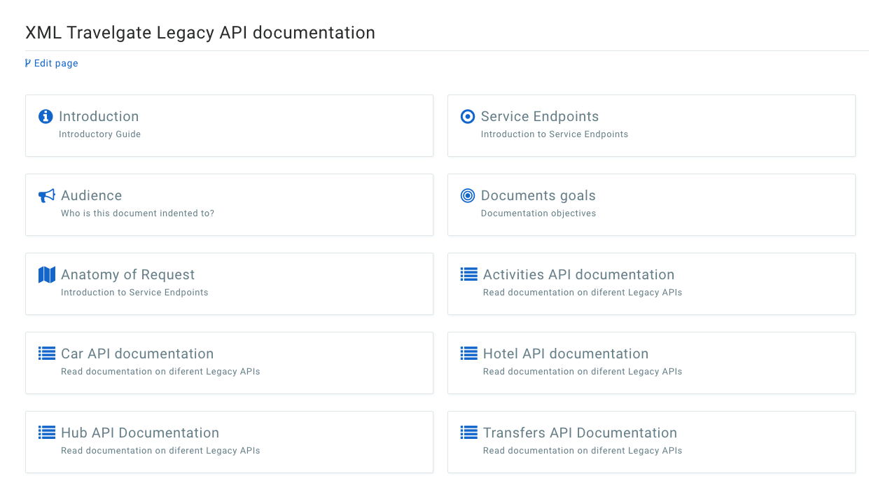Documentacion API TravelgateX