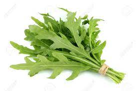 Bunch Of Arugula Herbs Isolated On White Background. Stock Photo, Picture  And Royalty Free Image. Image 121015217.