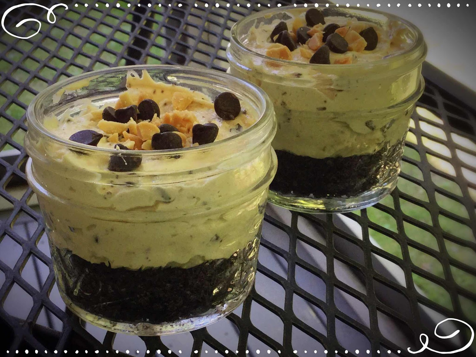 Chocolate Chip Mousse Pie in a Jar