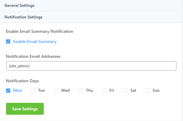 wordpress email notification, email summery notification, fluentsmtp 2.0
