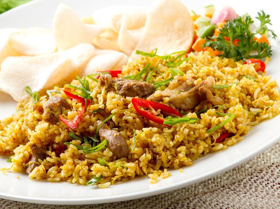 Fried, Rice, Menu, For, Lunch, Dinner, Food, Cafe