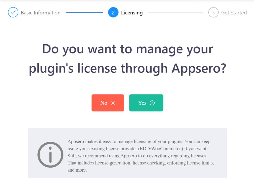 Manage plugin's licesne through Appsero