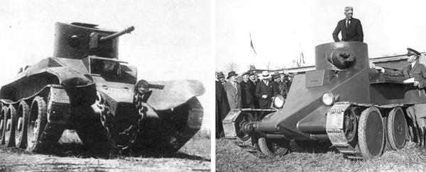БТ-2 и танк Кристи