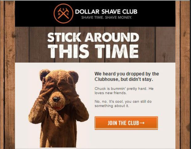 Image of a tripwire offer used by Dollar Shave Club