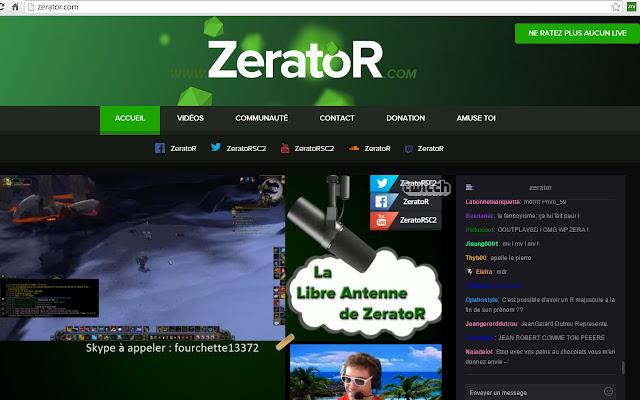 ZeratoR chrome extension