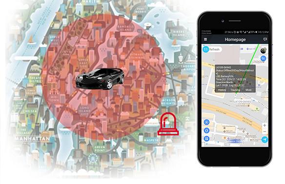 Định vị gv20 giúp khoanh vùng hoạt động an toàn của phương tiện được gắn