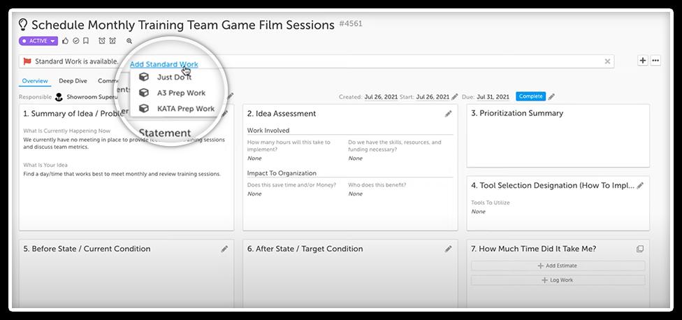 Advanced Filter for Standard Work Screenshot