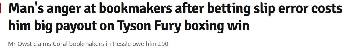 Headline describing a company's mistake.