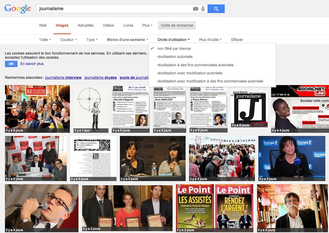 Google images améliore la recherche des photos en licence Creative Commons