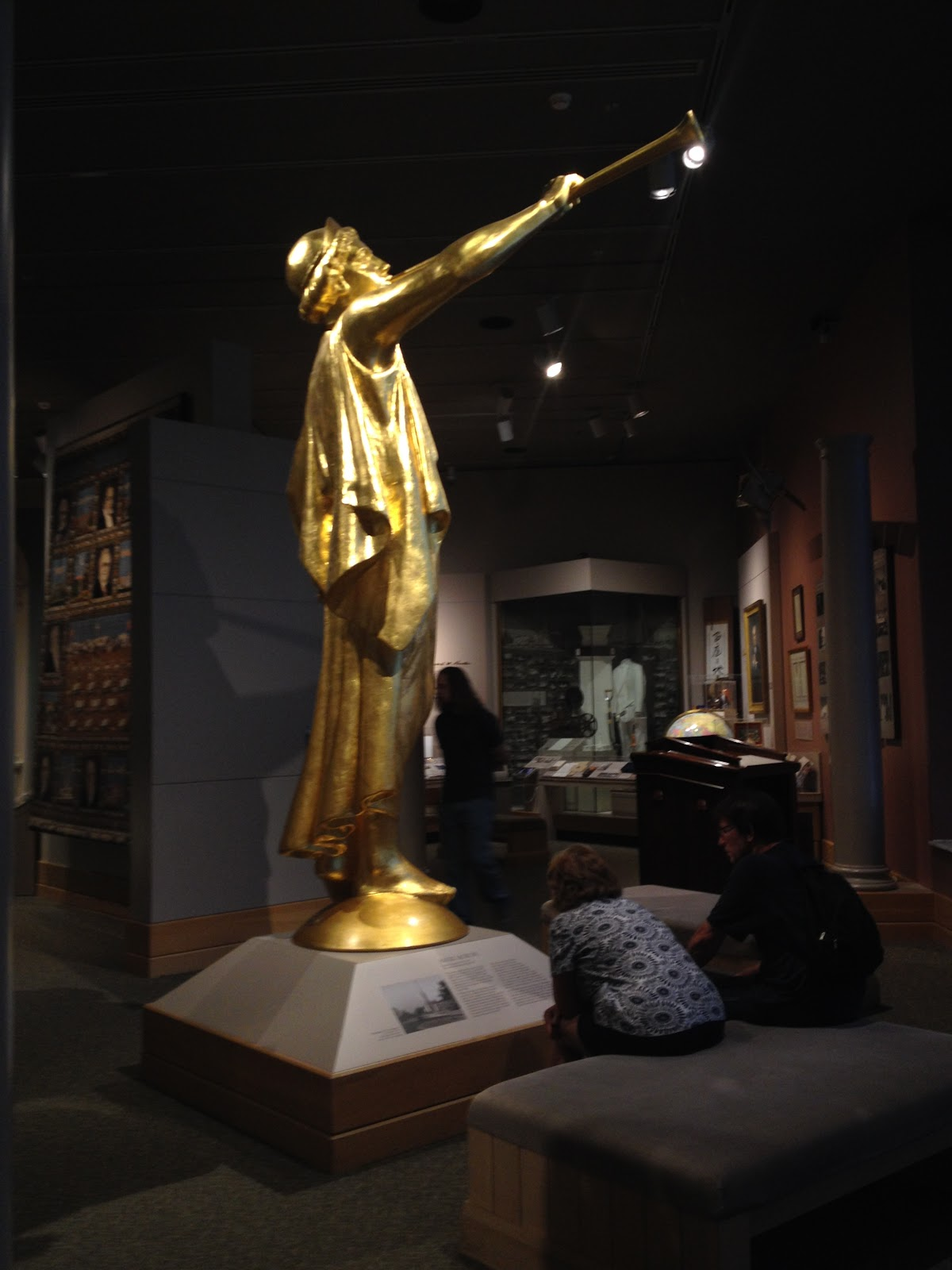 Angel Moroni in the Church History Museum