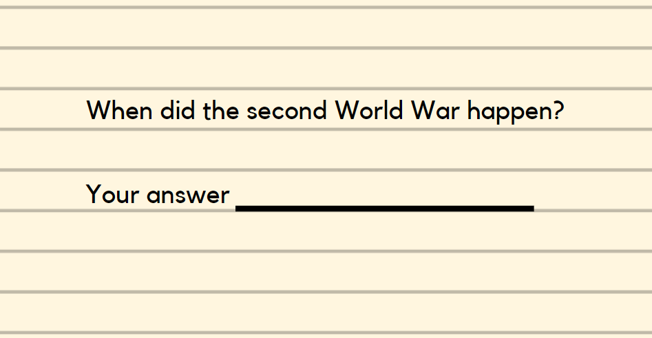 short-answer question over why WWII happened