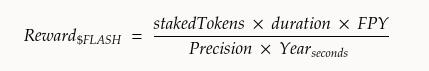 Formula for Staking Reward amount