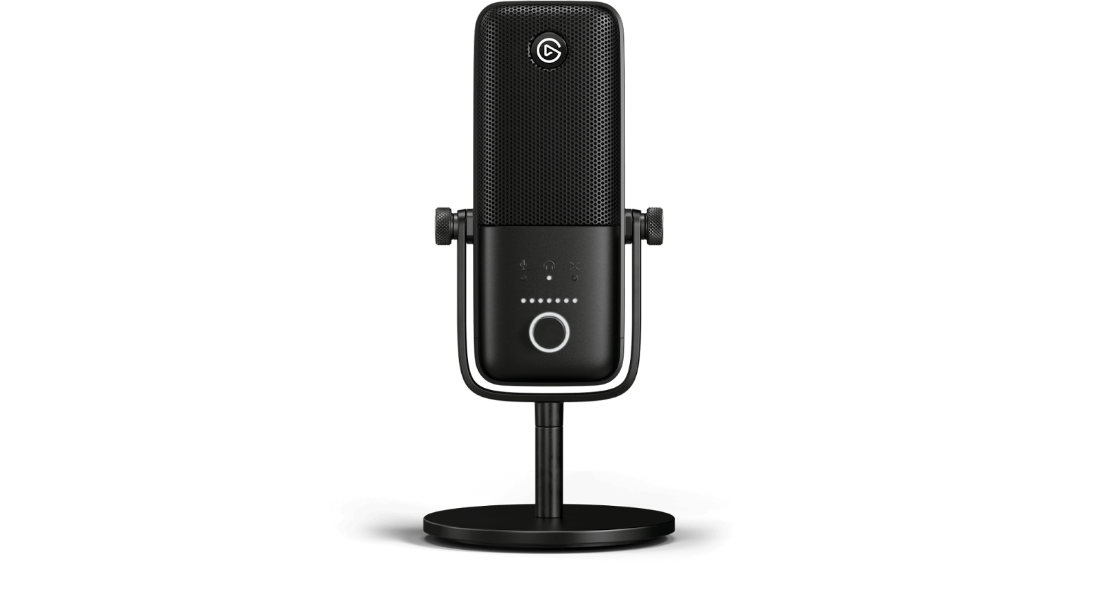 Elgato wave:3 microphone shown on white background for use in remote working for better audio.