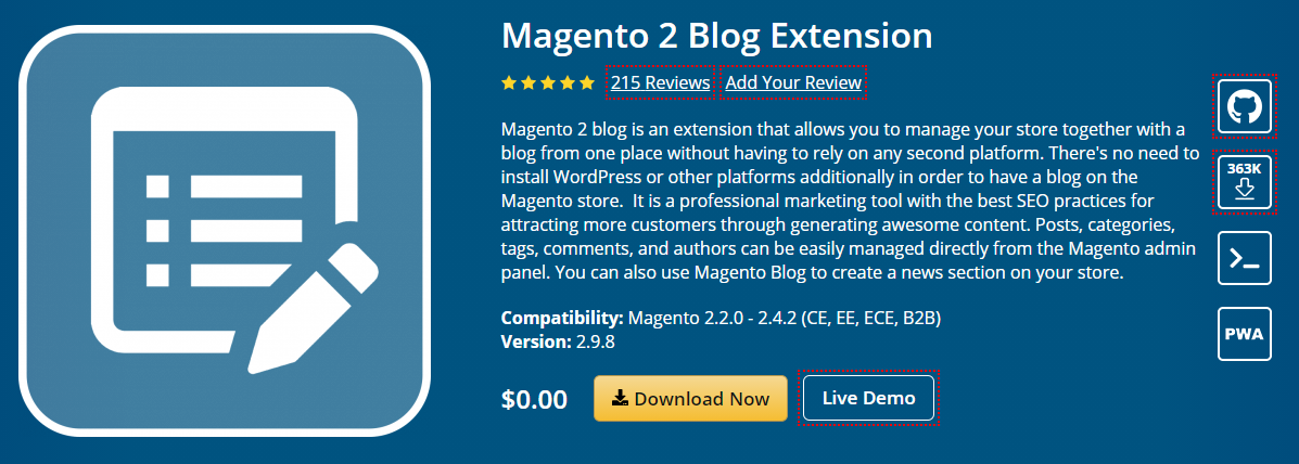 Magento 2 Blog Extensionsas by MageFan