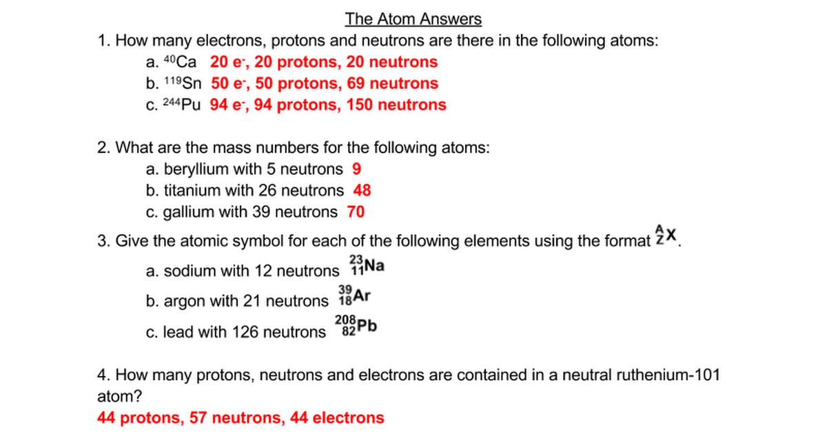 The Atom Answers Google Docs