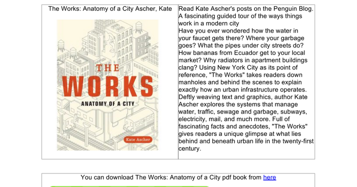 The Works: Anatomy of a City - Google Docs