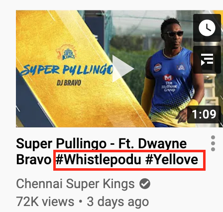 "Chennai Super Kings, a franchise cricket team from India, use ""#Whistepodu"" and ""#Yellove"" in their channel's video titles frequently"