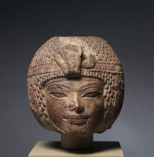 Image of the Head of Amenhotep III Wearing the Round Wig, c.1391-1353 BC (brown quartzite), Egyptian 18th Dynasty (c.1567-1320 BC) /, Egyptian Cleveland Museum of Art, OH, USA © Leonard C. Hanna, Jr. Fund / Bridgeman Images