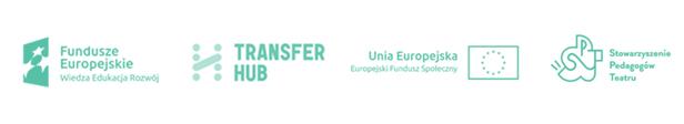 #Fundusze Europejskie #Transfer Hub #Europejski Fundusz Społeczny #Stowarzyszenie Pedagogów Teatru
