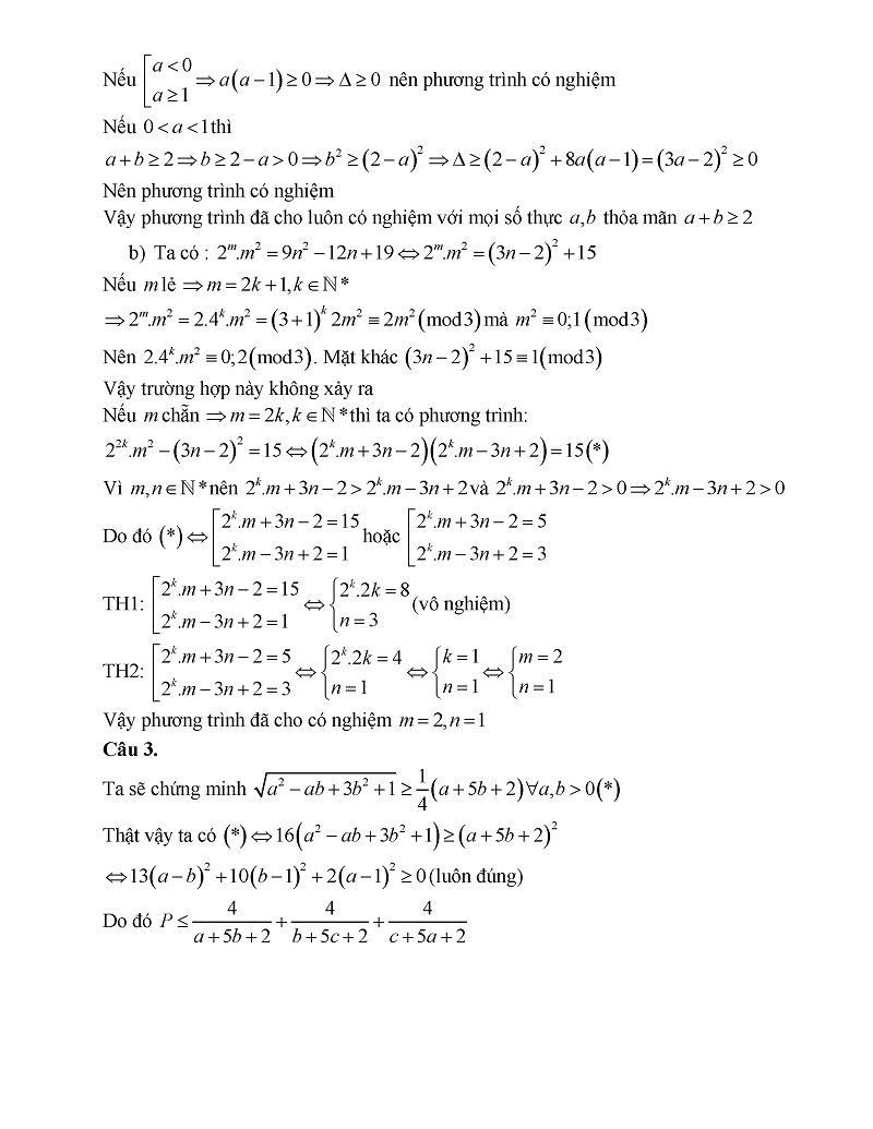 Đề thi chuyên toán Bà Rịa Vũng Tàu 3