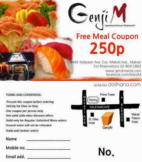 genji m unlimited sushi sashimi buffet makati free coupon