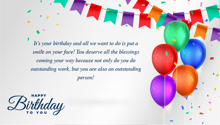 Birthday Wishes For Employees