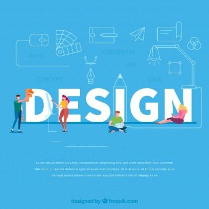 Design word concept Free Vector