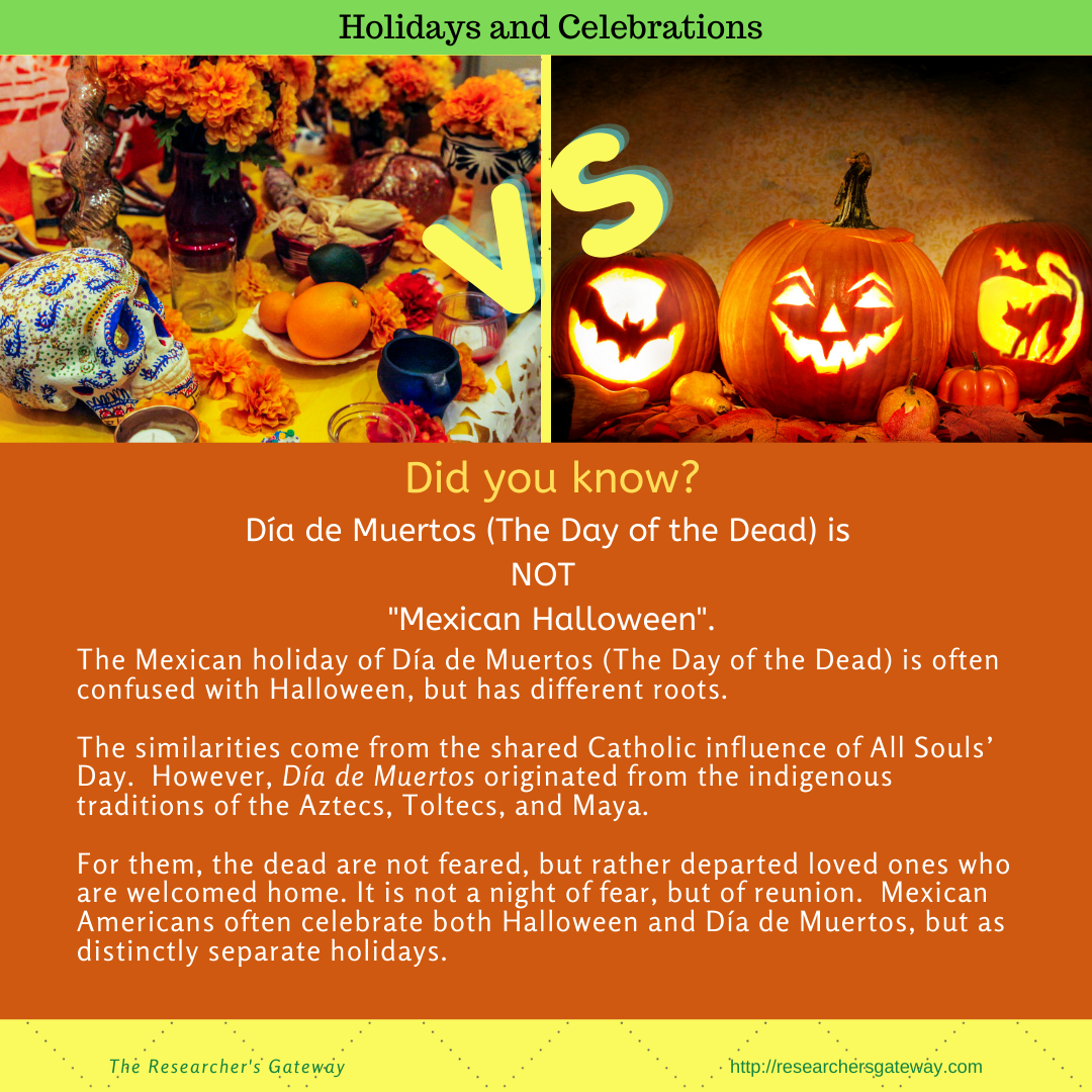 Did you know that Dia de Muertos, the Day of the Dead, is NOT Mexican Halloween?