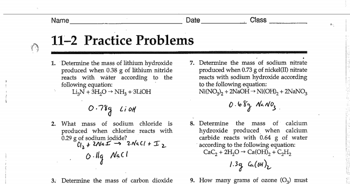AE 11 2 Practice Problems Answers 15 16pdf
