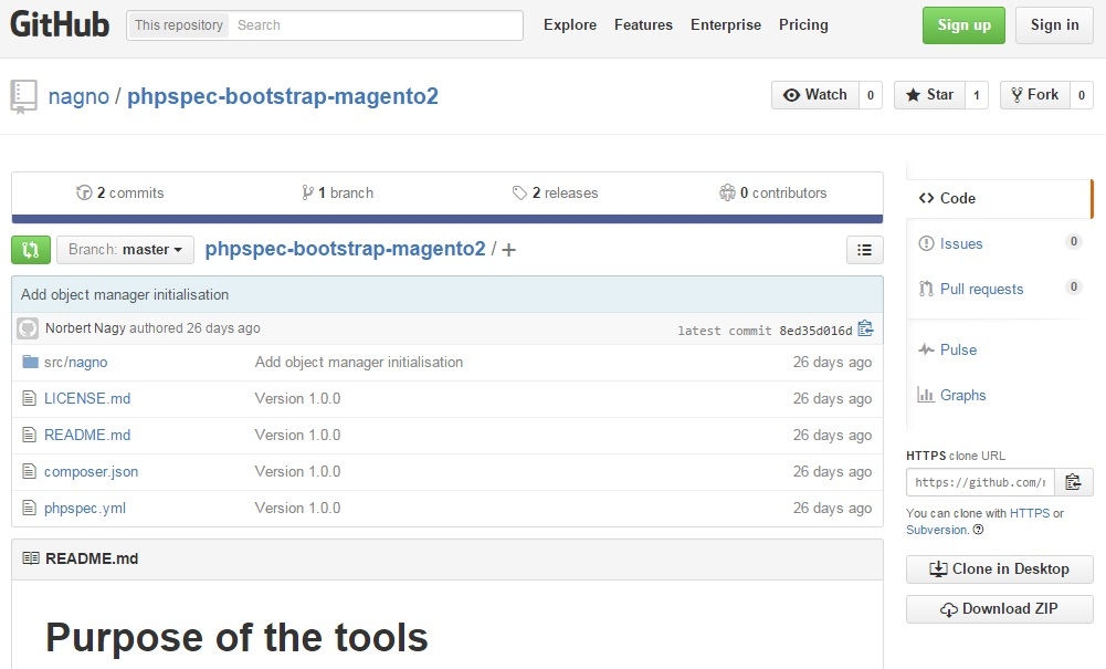 PHPspec Bootstrap Magento 2 module