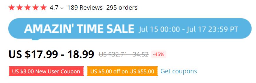 Aliexpress discount pricing