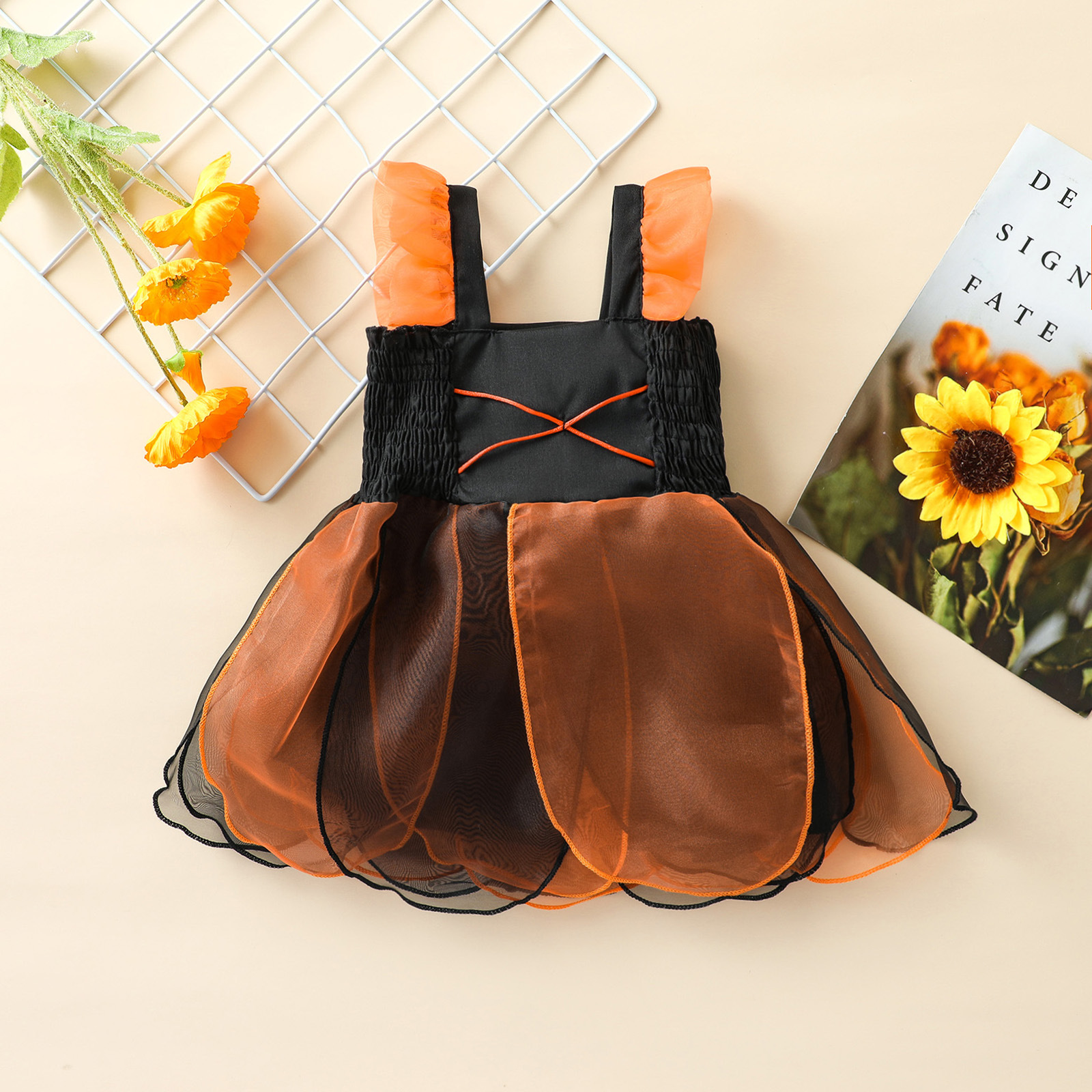 Baby Girl Pumpkin Fairy Tulle Dress