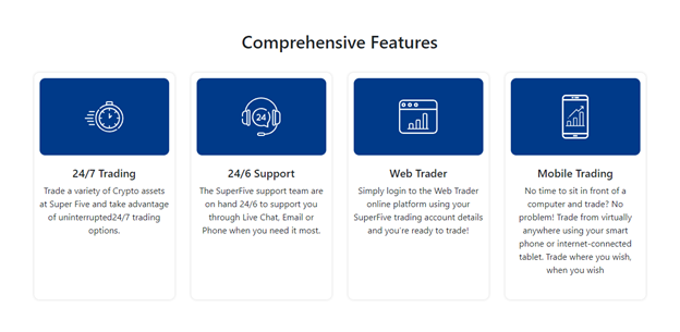 Super-Five trading features