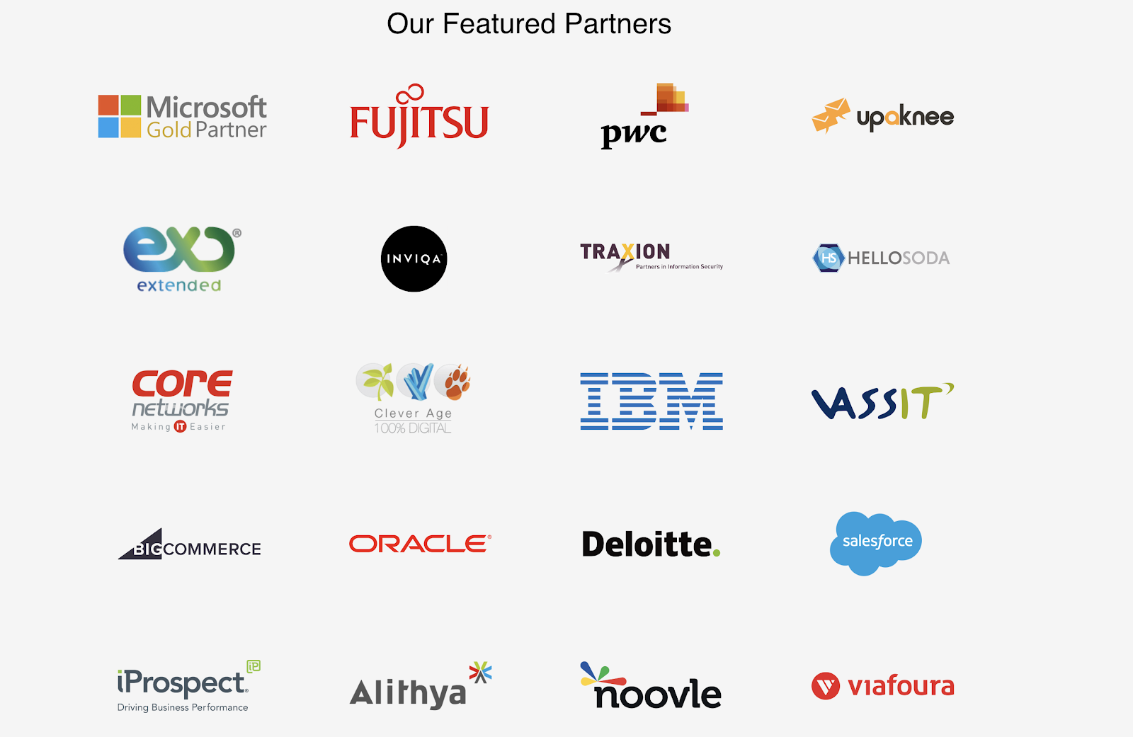 Rows of logos from trusted and established partners of LoginRadius: Microsoft, Deloitte, IBM, Salesforce, PWC, Oracle, and more.