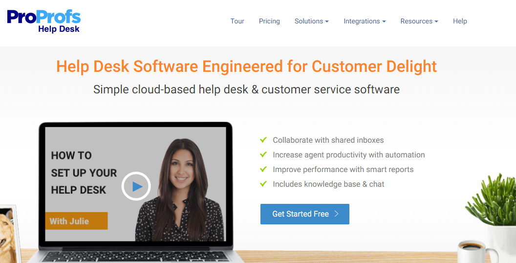 ProProfs help desk software for creating better support experiences