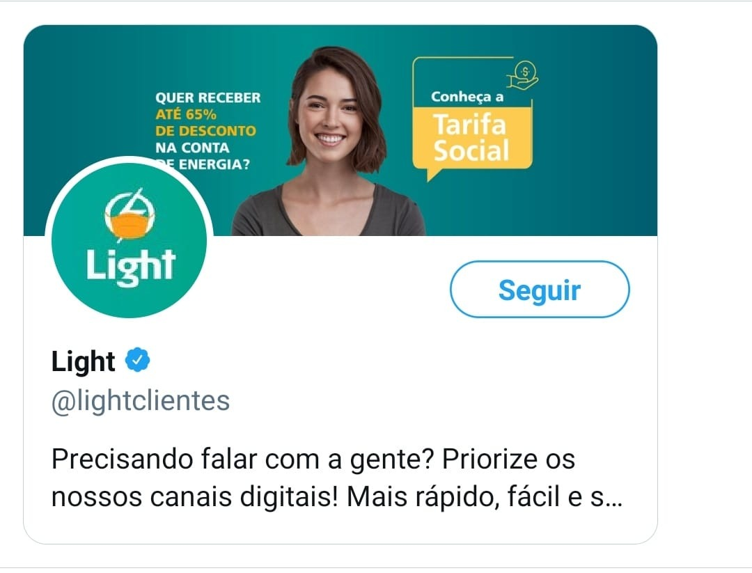 notificar falta de luz pelo twitter lightclientes