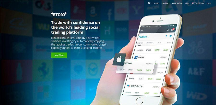 Trading dengan menggunakan aplikasi Etoro