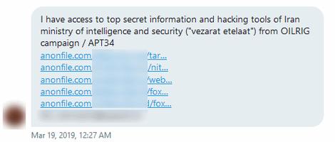 Vazamento das ferramentas de hacking do serviço de inteligência do Irã