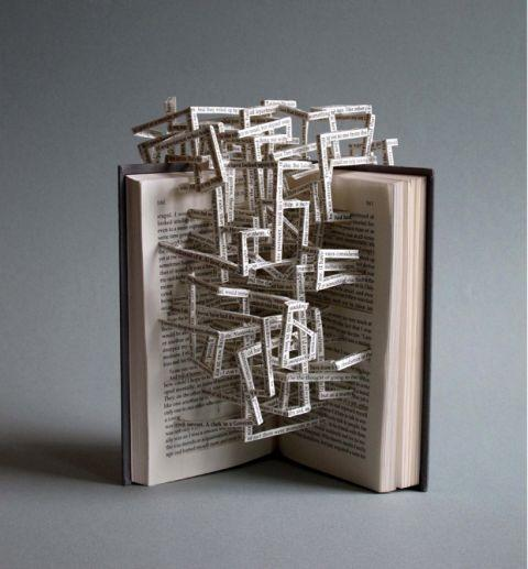 Book Sculpture @Briony Elliott Elliott Elliott Gemmell!! its a book, and when I think books I think Briony. probably you're not even doing that anymore, but enjoy anyway!
