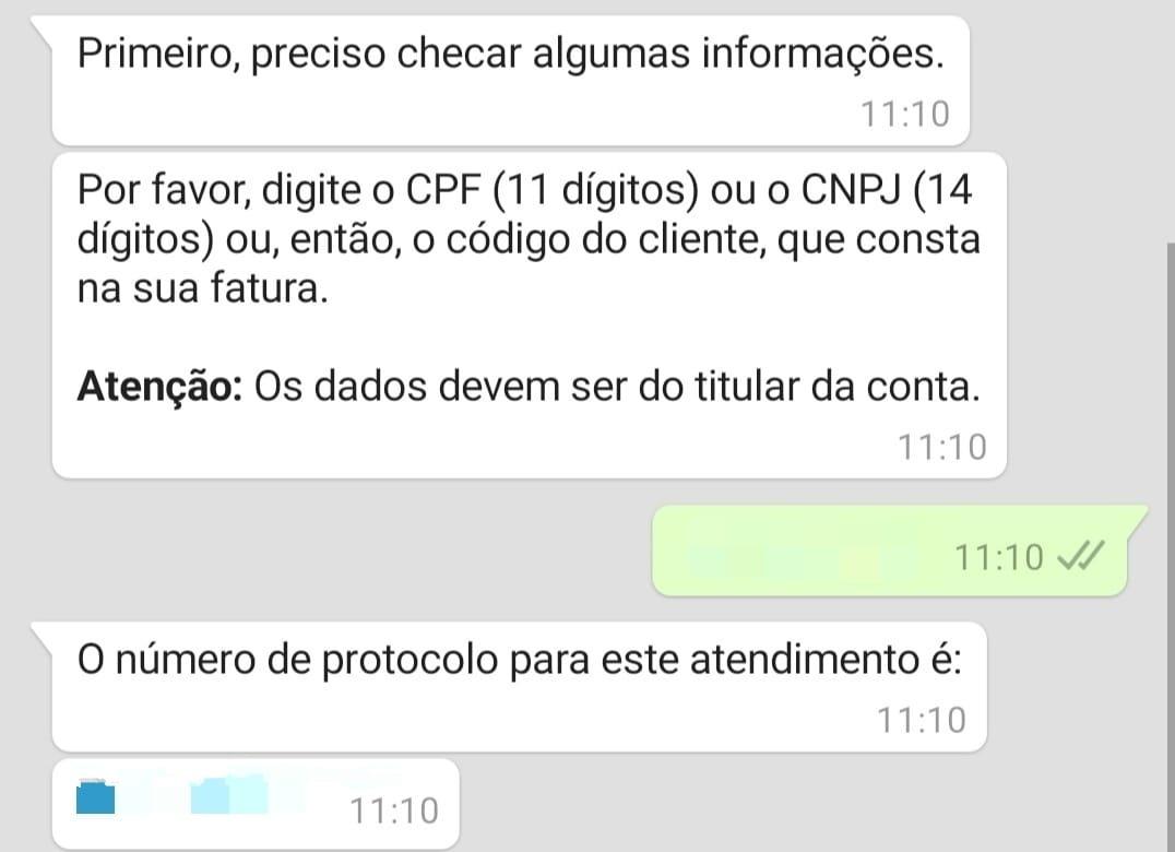 informe cpf para pedir segunda via